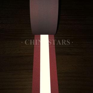 全棉荧光红阻燃警示带